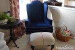 Family Room, Blue Velvet Chair