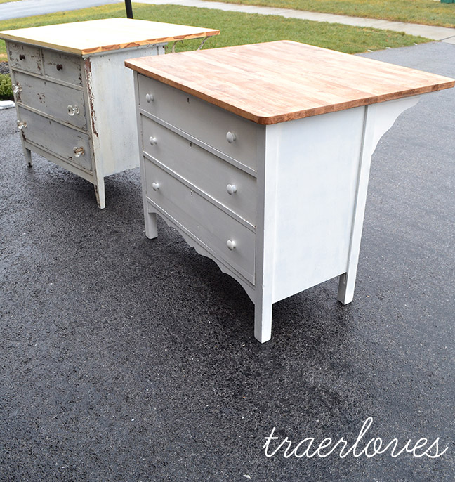 Kitchen Island Made From Old Desk: The Kitchen Islands Are Done!